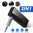 USB Wireless Bluetooth 5.0 Audio Transmitter Receiver Adapter 3.5mm Aux Car US
