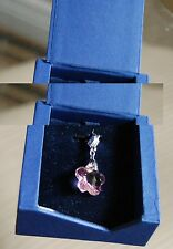 NWT 100% Authentic and Beautiful Swarovski Peach Flower Pendant for Necklace Box