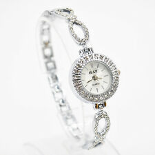 Ladies Fashion IE-LY Rhinestone Bowknot Silver Band White Dial Wrist Watch