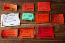 Lot de 100 étiquettes pharmacie anciennes jamais utilisées
