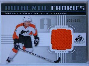 2011-12 UD SP GAME USED AUTHENTIC FABRICS -JAMES VAN RIEMSDYK 26/100