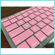 "Silicone Macbook Keyboard Protector Waterproof Skin Cover for 13"" A1181 Pink"