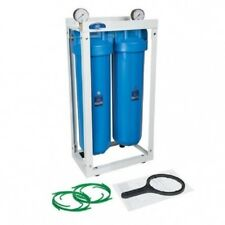 """Big Blue 20"""" x4, 5"""" 2 CARCASA EN MARCO Pozo Cisterna Hierro Filtro de agua"""
