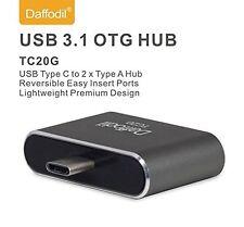 Daffodil TC20 - USB Type C OTG Adaptor - Type C to Dual Standard Type A USB 2.0