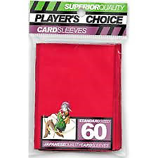Players choice Red standard sleeves MTG pokemon