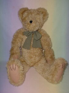 BOYDS BEAR * CHECKED BOW * LARGE 30 INCH BEAR * MOVEABLE PARTS * COOL *