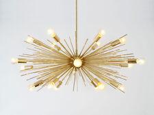 Milieu Du Siècle Moderne Fait Main Or Laiton Lustre 18 Ampoule Spoutnik URCHIN Light