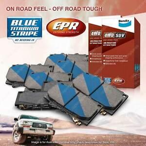 8Pcs Front + Rear Bendix 4WD Brake Pads Set for Nissan Patrol Y61 GU AWD