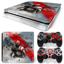 PS4 Slim Playstation 4 Console Skin Decal Sticker God Of War Custom Design Set
