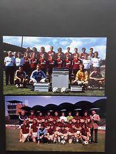 FC Bayern München 2x Mannschaftsfoto DFB Hannover 96 HSV BVB 09 1989