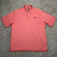 FootJoy FJ Men's 2XL XXL Short Sleeve Peach Golf Polo Shirt