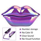 Purple Lips Telephone Electroplate Desktop Landline Phone For Home Office