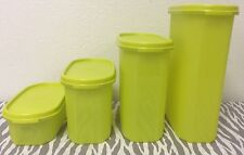 Tupperware Modular Mates Oval Storage Containers Set Of Four Green New