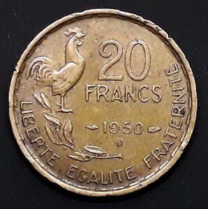 20 FRANCS GEORGES GUIRAUD 1950 B QUEUE A 4 FAUCILLES -  RARE