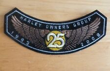 HOG HARLEY Davidson OWNERS GROUP 25 years 1983 - 2008  PATCH Eagle wings