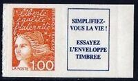 "FRANCE STAMP TIMBRE N° 3101a "" MARIANNE 1F ORANGE AUTOCOLLANT "" NEUFS xx LUXE"