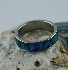 Paua Muschel Ring  Größe 59