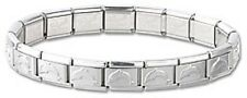 Italian Charm Dolphin 9mm Starter Bracelet Shiny Stainless Steel 18 Links New