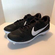 Nike Alpha Huarache Varsity Low Metal Cleats Black AO7960-001 Mens Size 12 New