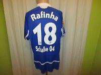 "FC Schalke 04 Adidas Heim Trikot 2007/08 ""GAZPROM"" + Nr.18 Rafinha Gr.L TOP"