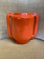 Rare Stangl Orange Art Deco Pottery Vase
