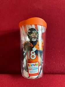 """Peyton Manning, """"TERVIS"""" (16oz) """"Brand New""""  (Hot / Cold) Tumbler w/ Lid"""