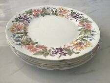 "Five - Paragon China ""Country Lane"" Honeysuckle Pattern - Dinner Plates"