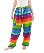 Rainbow Harem Pants With Pocket - Hippie Pants With Draw String
