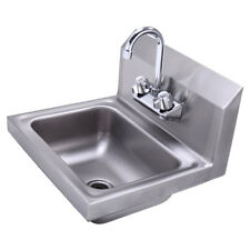 New Commercial Stainless Steel Hand Wash Washing Wall Mount Sink Kitchen