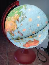 Vintage Nova Rico Educational World Globe Light Up Very Cute with World Features