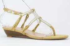 Enzo Angiolini Women's Tan Khanna Wedge Sandal Size 8.5M