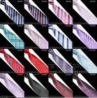 22 Style - New Mens Slim Skinny Solid Color Plain Satin Tie Narrow Necktie ♡