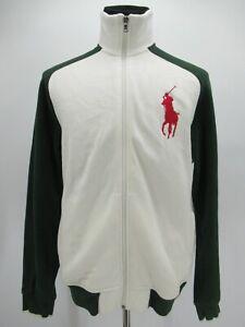 M9396 VTG Men's Polo Ralph Lauren Big Pony Raglan Sweatshirt Size M