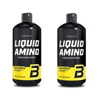 Liquid Amino 2 x 1000ml von BioTech USA für Diät und Muskelaufbau + BONUS