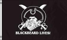 Black Beard Lives pirate 3X5 Flag Fl743 3X5 wall hanging polyester new pirates