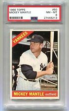 1966 TOPPS MICKEY MANTLE #50 PSA 8 NM-MT (New Lighthouse Holder) B27448213