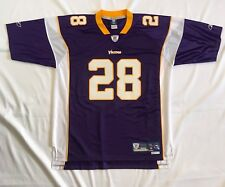 Adrian Peterson Reebok Authentic On Field SEWN Vikings Jersey NFL XL +2 Inches