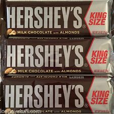 Hershey Almond Milk Chocolate Candy Bar - King Size  18 Bars  2.6oz (73g) Each