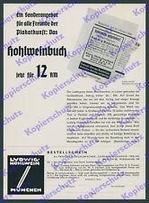 or. Buch-Reklame Ludwig Hohlwein Plakatkunst Gebrauchsgraphik Phönix Berlin 1935