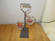 STEEL SPADE TEA LIGHT HOLDER Perfect for Your Garden Free Candles BRAND NEW