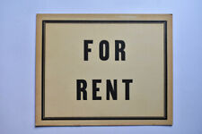 Antique FOR RENT Sign House Apartment Room Shop Store Car Vintage Advertising