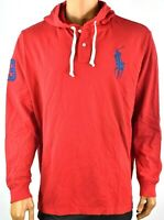 Polo Ralph Lauren Men Polo Hoodie New S L XL XXL Red Long Sleeve Mesh Shirt Knit