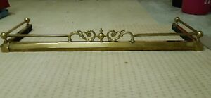 Fireplace fender vintage solid brass extendable