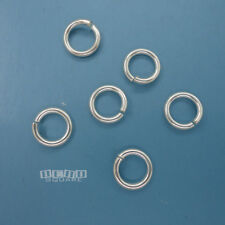 6PC Sterling Silver 8mm 16 Gauge Open Jump Ring Connector Heavy Duty #33437