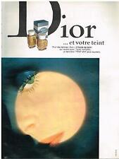PUBLICITE  1970   DIOR   cosmétiques