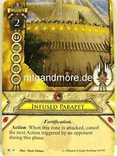 Warhammer Invasion - 1x Infused Parapet  #029 - Cataclysm