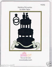 BossKut wedding cake silhouettes cutting die use in all die cutting machines
