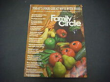 Family Circle Magazine September 1973 Food Skillet Dishes Meatless Meals M1723
