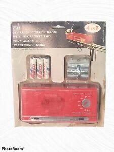 New (Other) VTG Retro Freeair FM Mountable Bicycle Radio Spotlight Horn Alarm