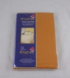Double Flat Sheet Copper Orange Polycotton 230cm x 255cm